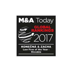M&A Today - Law Firm of the Year - Slovakia