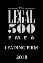 Legal 500 - Leading Firm 2018