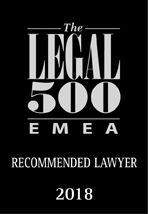 Legal 500 - Recommended Lawyer 2018