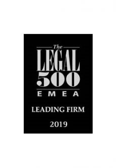 Legal 500 - Leading Firm 2019